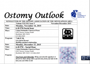 Nov Dec Ostomy Newsletter